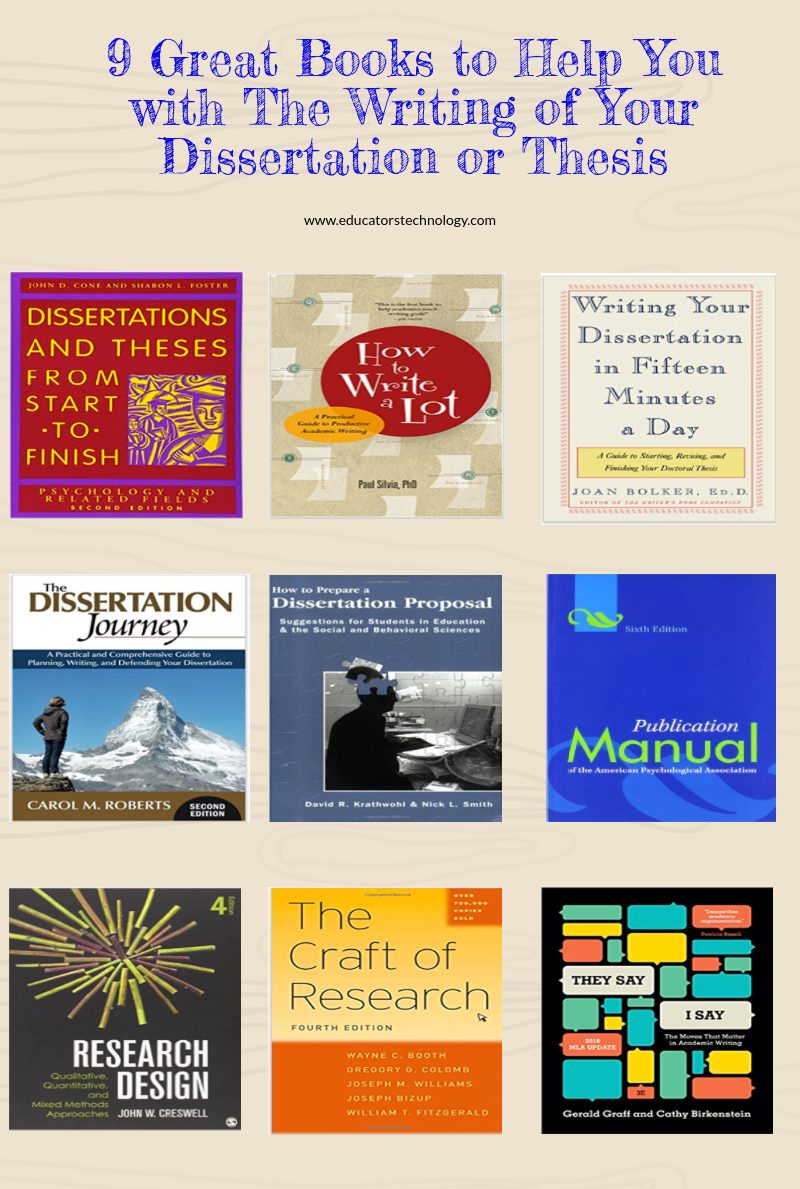 9 Great Books to Help You with The Writing of Your Dissertation or Thesis