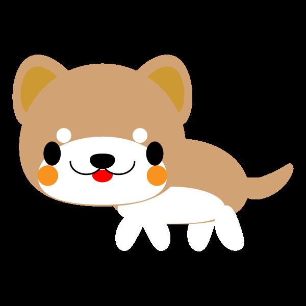 縁無しでかわいい柴犬の無料イラスト商用フリー オイデ43