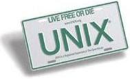 UNIX® License Plate