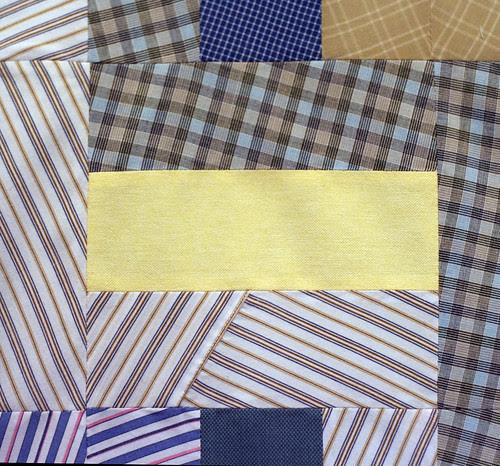 Quilt top detail: yoke
