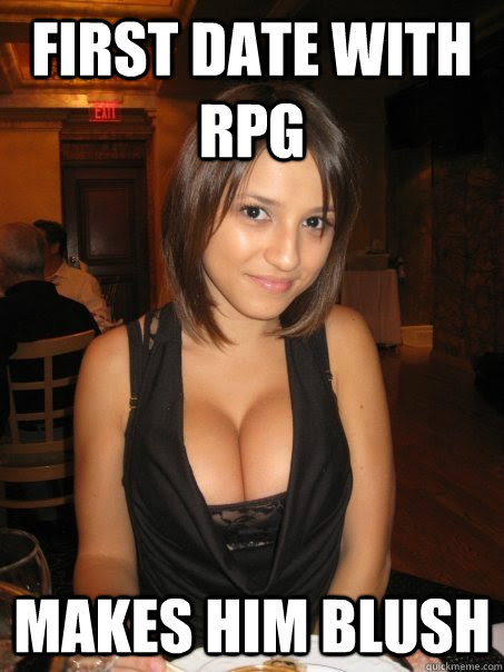 First date with RPG Makes him blush - Eye contact - quickmeme