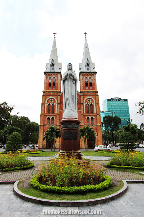 beautiful Notre Dame Cathedral in Vietnam
