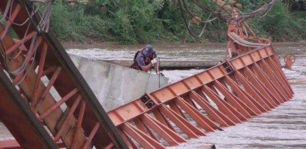 Homem realiza busca por desaparecido após acidente em obra viária em Piracicaba (SP)