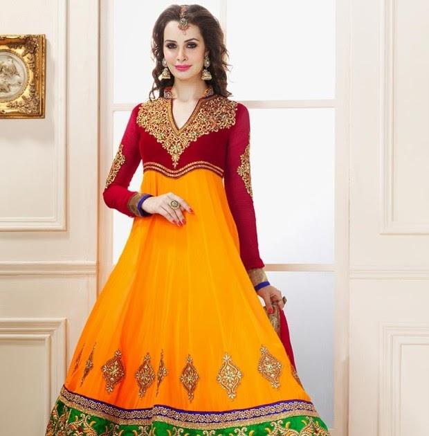 Indian Anarkali Umbrella Wedding-Brides-Bridal Party Wear