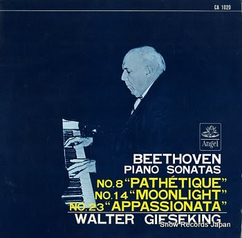 GIESEKING, WALTER beethoven; piano sonatas no.8 pathetique