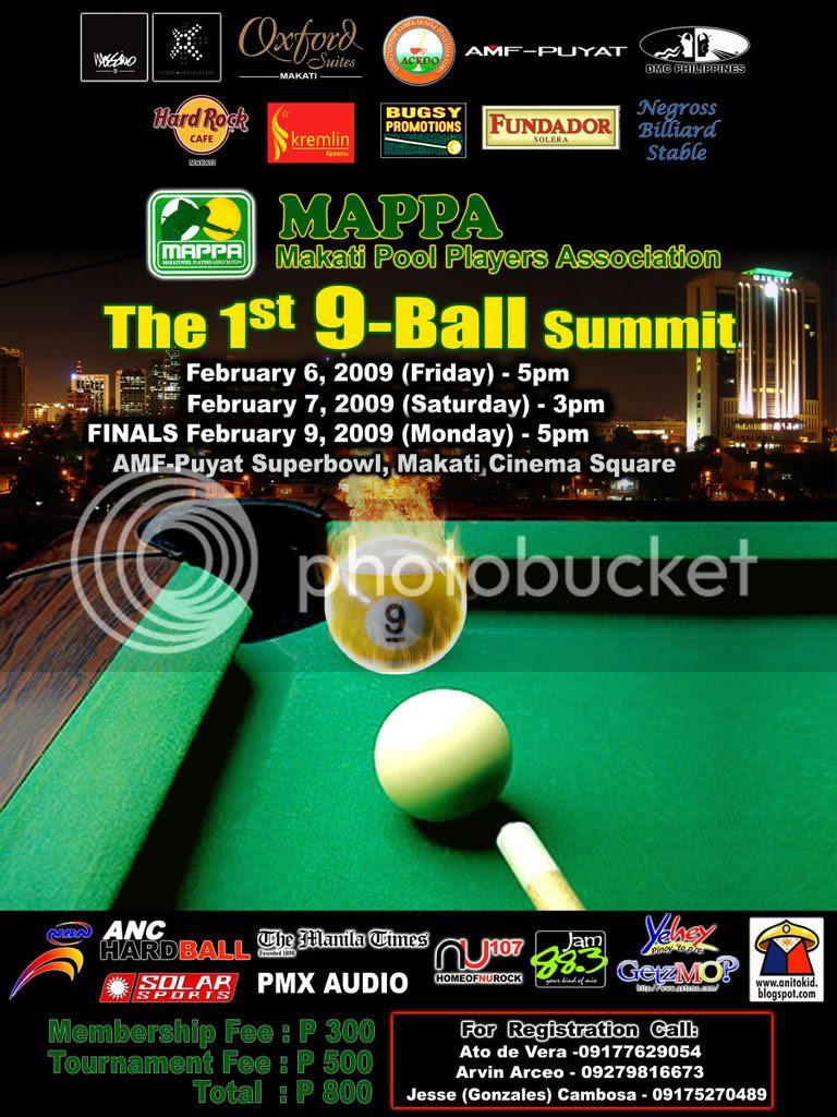 Makati Pool Players Association 9-Ball Summit Graphic