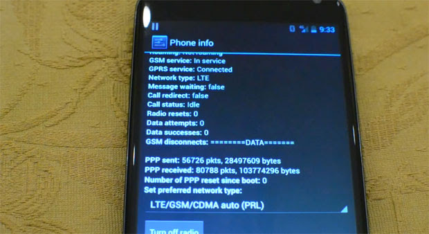 Nexus 4 shown working on Canadian LTE with simple carrier menu code video