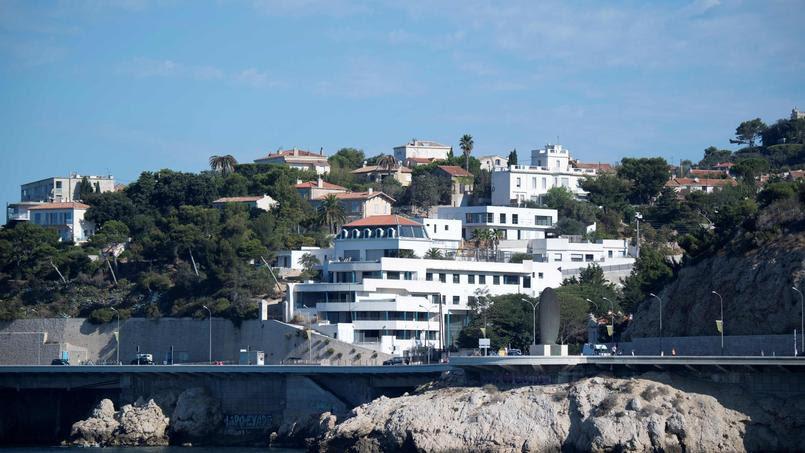 Vue sur les villas du parc Talabot dans le quartier Roucas-Blanc à Marseille