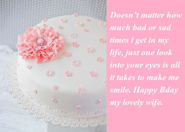 Birthday Cake Quotes For Wife