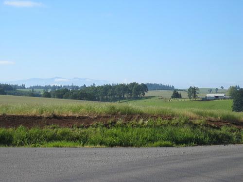 Waldo Hills to the east