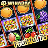 New Fruitful 7s pub style fruit machine at WinADayCasino.com