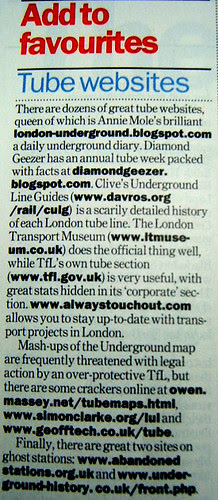 Time Out London Underground Special