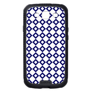 White and Navy Diamond Pattern Galaxy S3 Covers