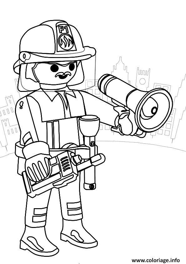 【Nouveau 2019】 Coloriage Pompier à Imprimer