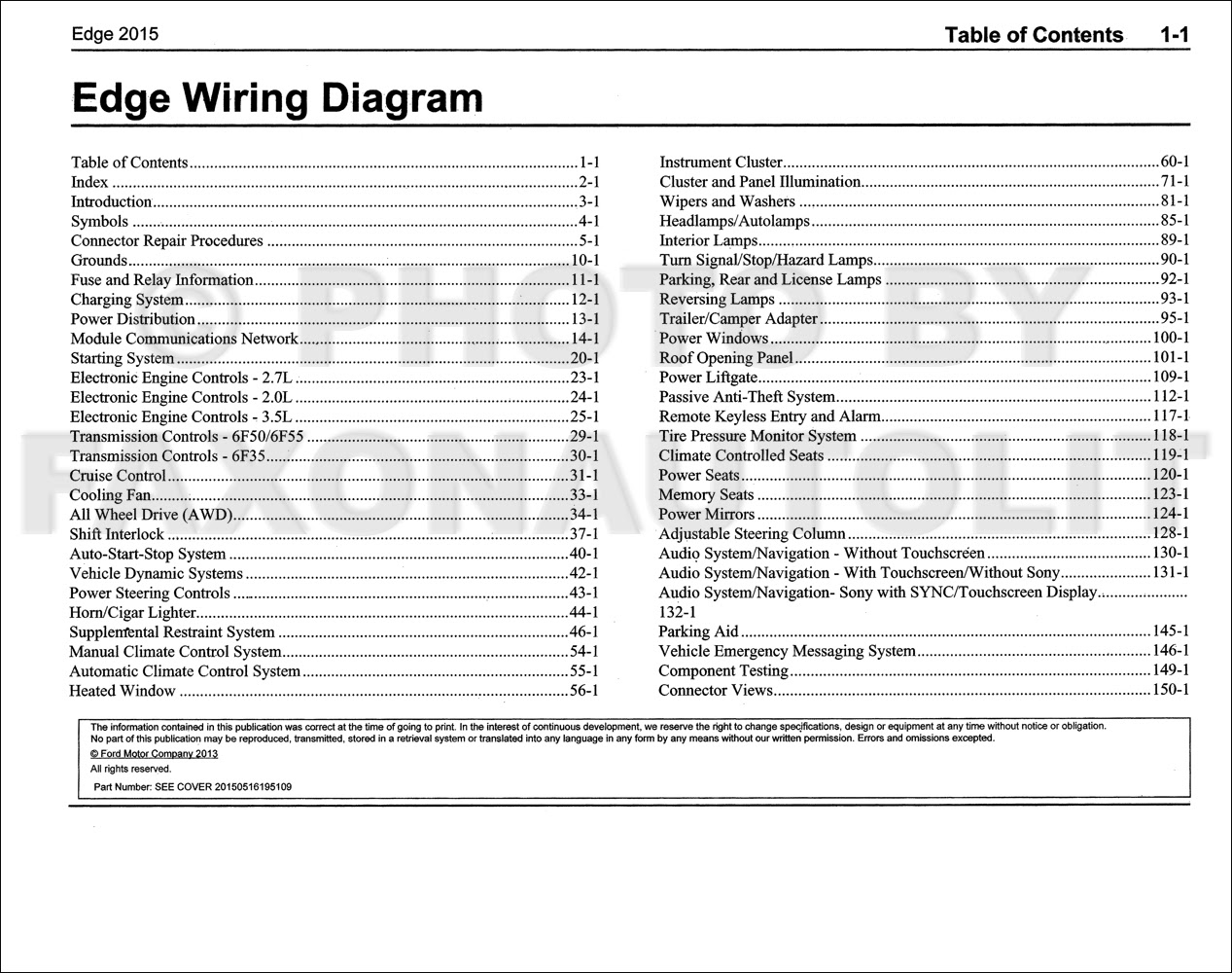 33 Ford Edge Wiring Diagram