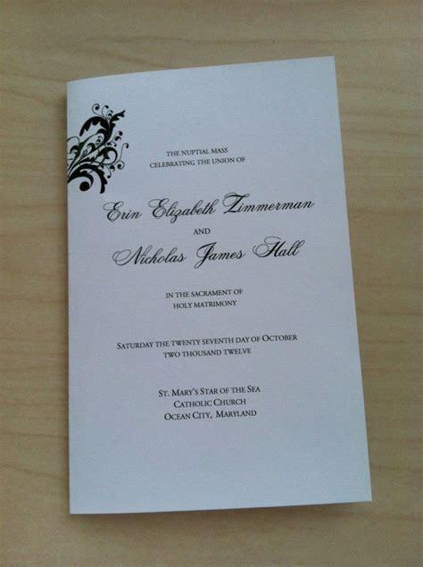 Free Catholic Wedding Program Template   Wedding