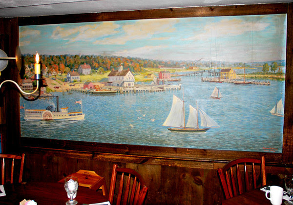 Wall Mural of Essex in the Dining Room at The Gris
