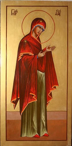 Marienikone - Heilige Maria betend