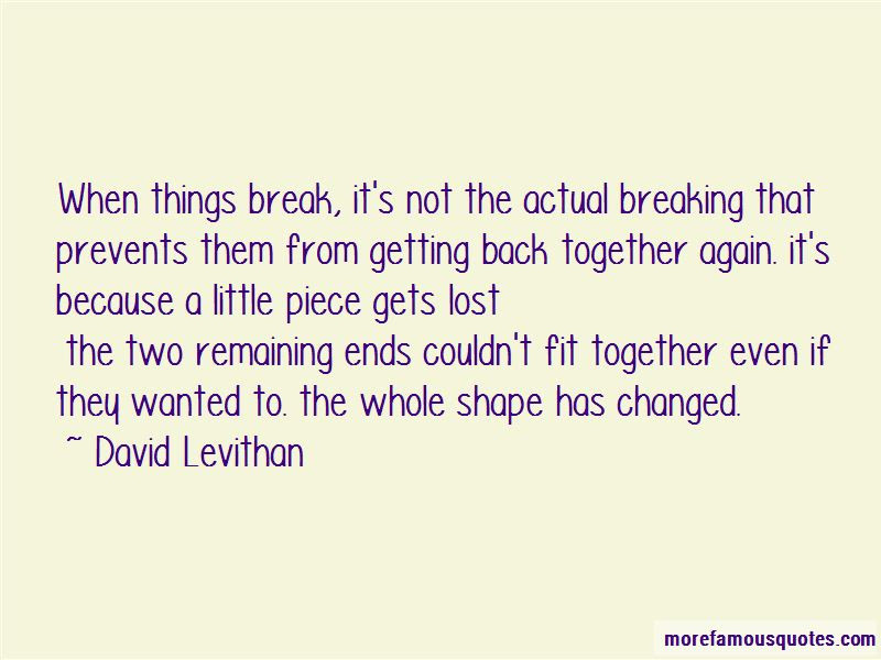 Quotes About Breaking Up And Getting Back Together Top 2 Breaking