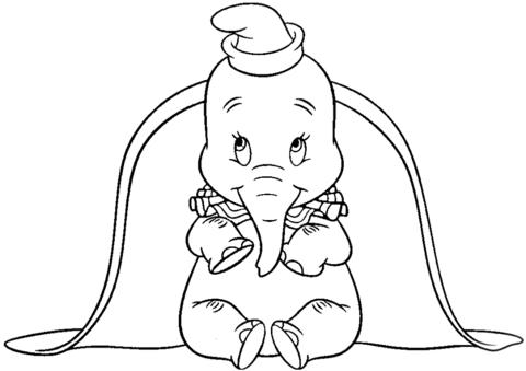 Dibujo De Dumbo Con Orejas Grandes Para Colorear Dibujos Para
