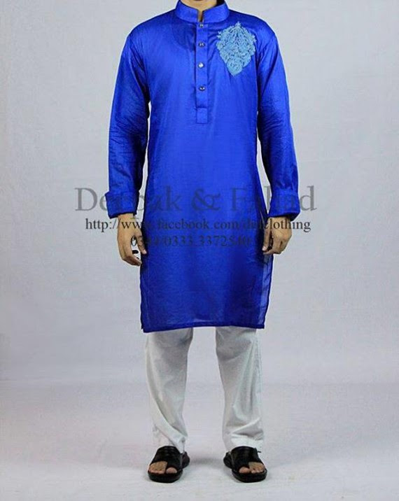 Mens-Boy-New-Summer-Eid-Dress-Kurta-Kamiz-Salwar-Pajama-2013-by-Deepak-Fahad-16
