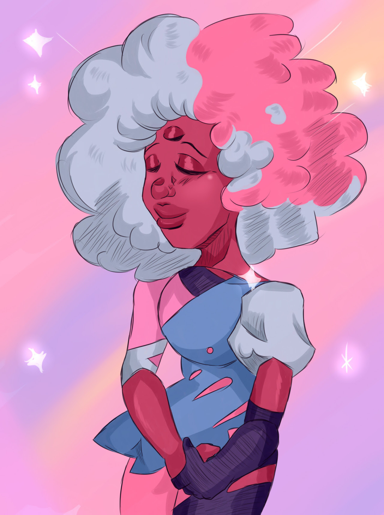 first drawing of 2017 is Garnet! this year is gunna be a year of constantly changing art and just experimenting, and just drawing more characters that i havent drawn much of previously. im hoping for...