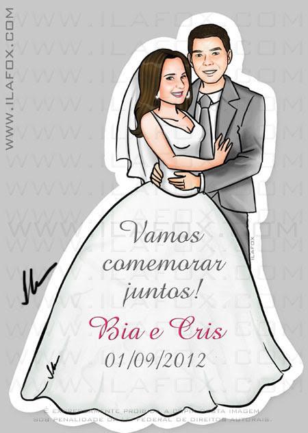 Lembrancinhas casamento, casal, caricatura, lembrancinha original casamento, by ila fox