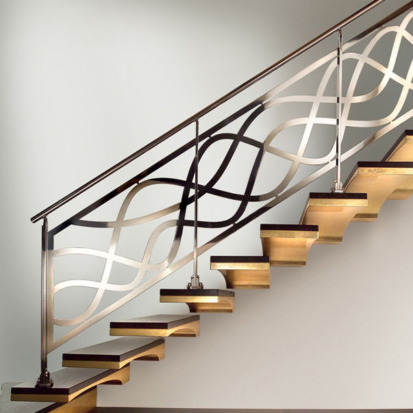 Stainless Steel Railing With Bars Indoor For Stairs Decor
