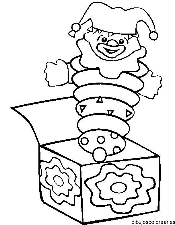 Dibujo De Un Payaso En Una Caja De Sorpresa