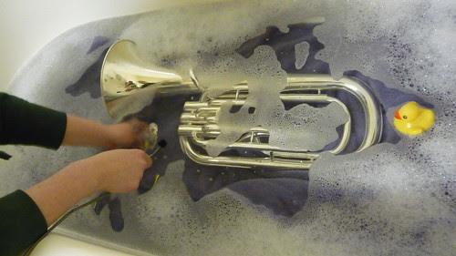 Giving a baritone a bath