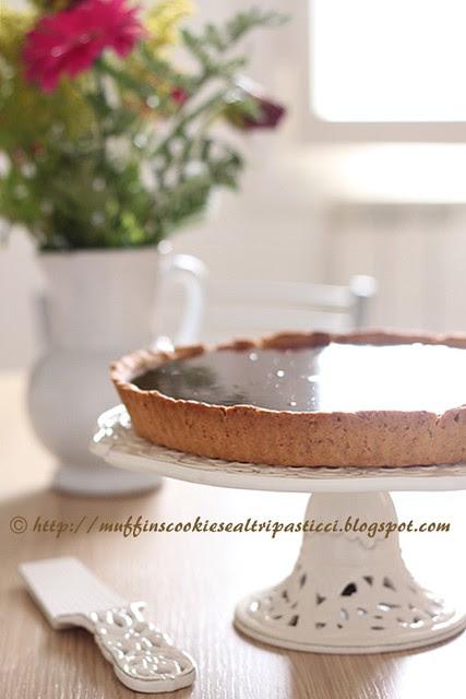 Crostata al caramello salato e cioccolato