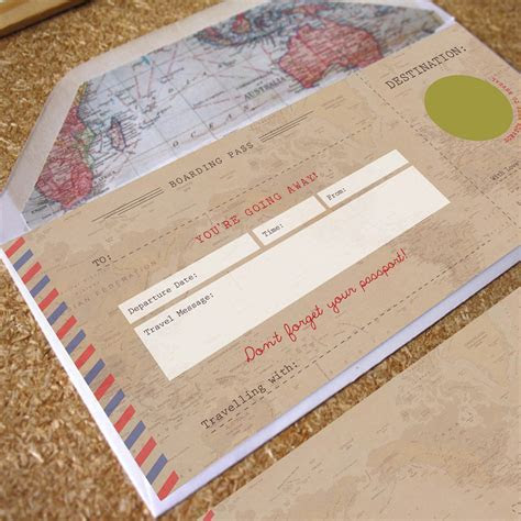 Vintage Scratch off Boarding Pass Travel Gift by Rodo