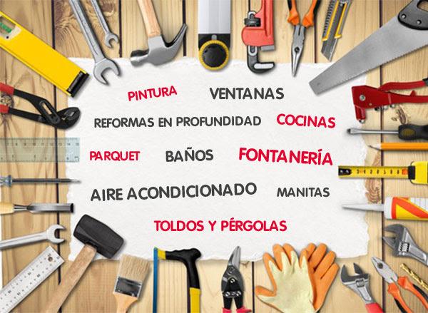 Pintura, ventanas, reformas en profundidad, cocinas, parquet, baños, fontanería, aire acondicionado, manitas, toldos y pérgolas