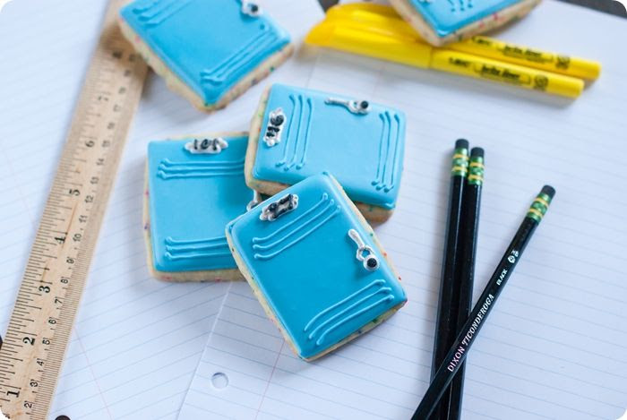 decorated locker cookies, super simple to make!