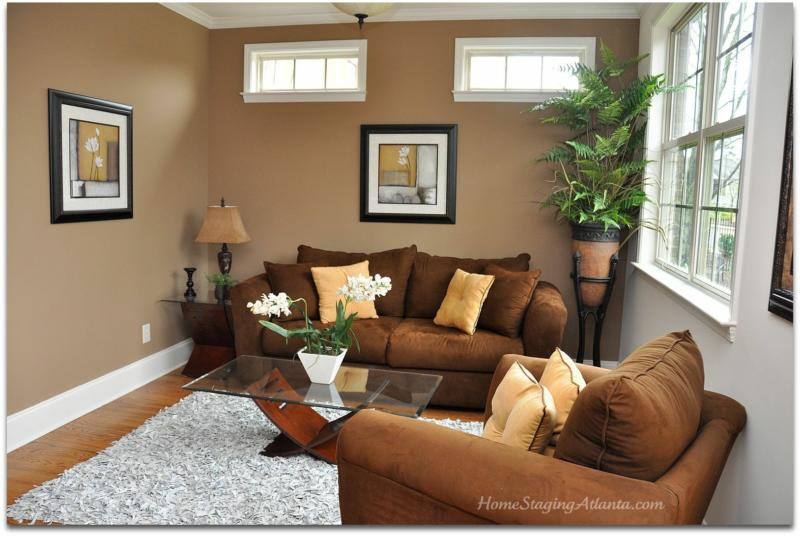 Light Brown Living Room Walls