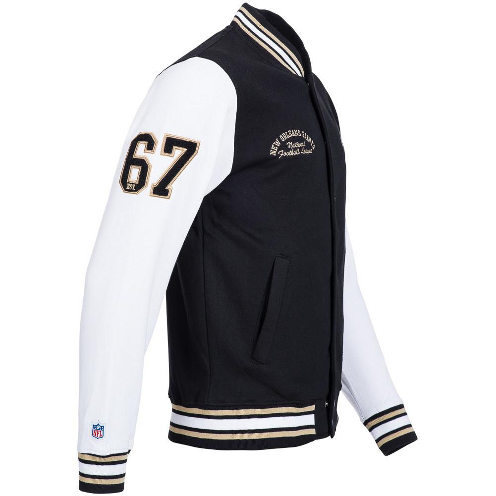 NFL Senell Fleece Lettermann Jacket American Football College XS  2XL new