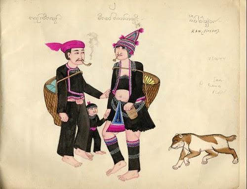 Tribes of Burma - Kaw (Si-Saw) 1900