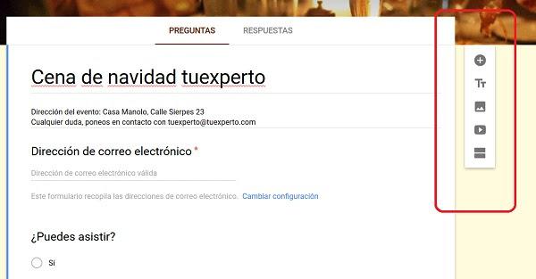 iconos menu encuestas google