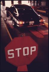 Stop Sign Where Motorists Halt Their Vehicles ...