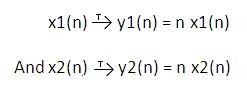 Linear or Non-linear Systems (Linearity Property)