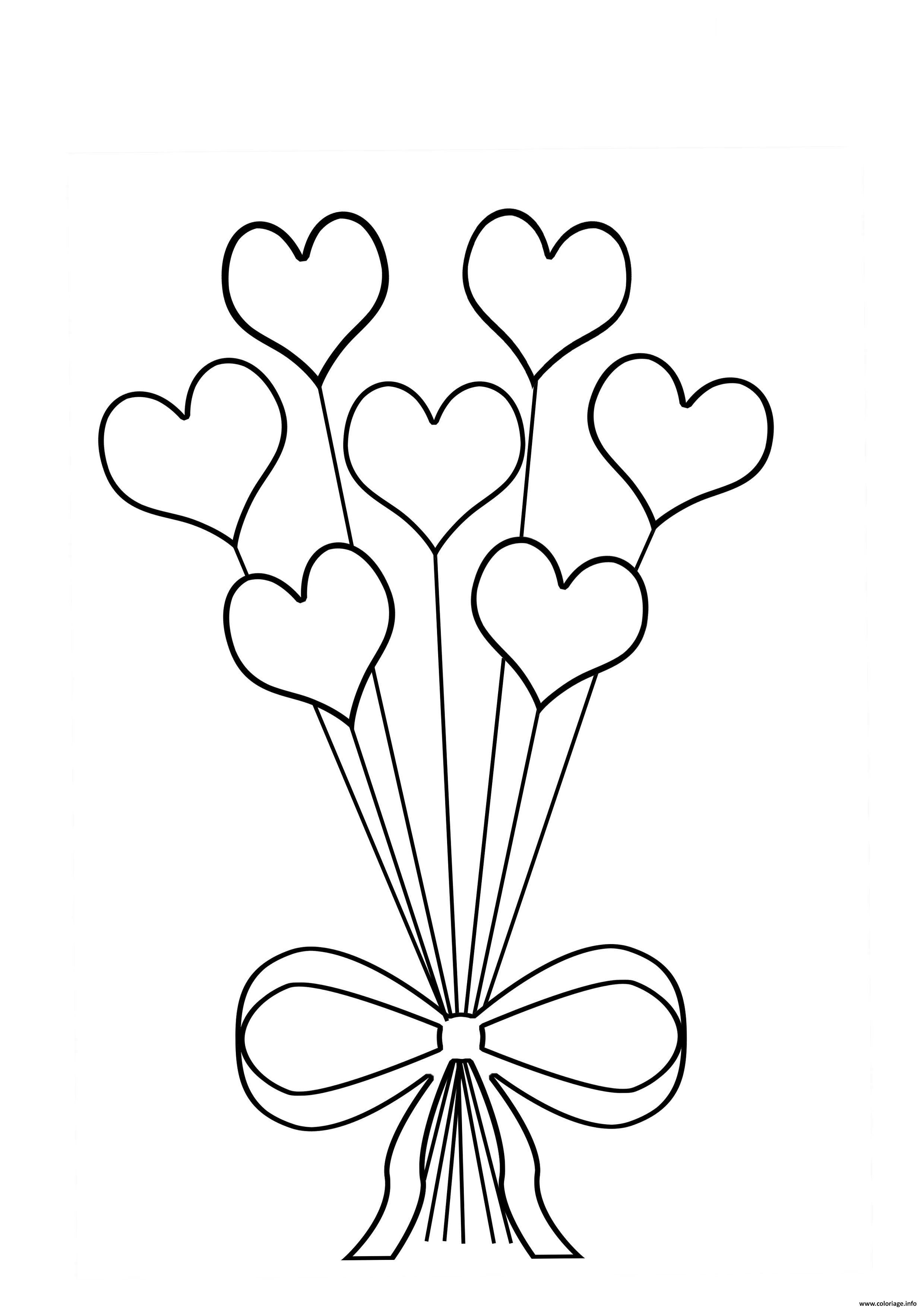 Coloriage Bouquet De Fleur En Coeur Jecoloriecom