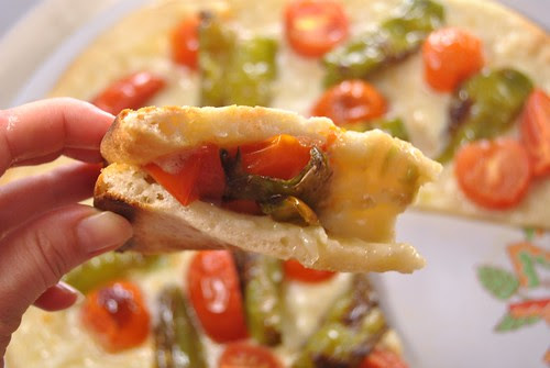 Pizza with friggitelli peppers