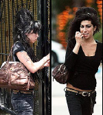 Amy Winehouse carrying Botkier 'Bianca' handbag
