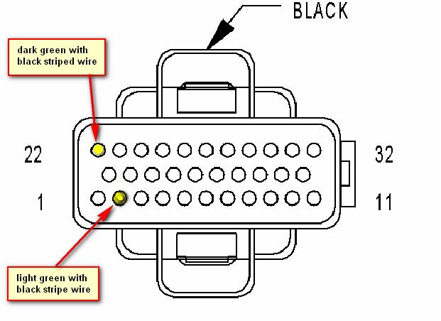 PCM pinout diagram