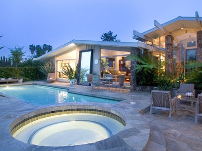 Gorgeous Mid-Century Hollywood Hills Celebrity Gated Spa Style ...