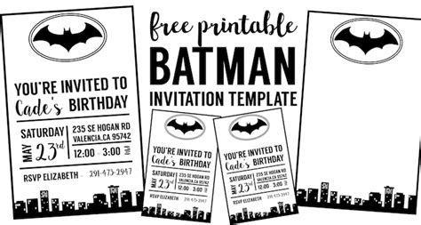 Free Batman Invitation Template   Paper Trail Design