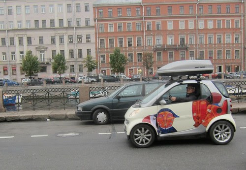 a car in Saint Petersburg