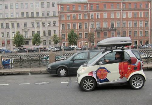 a car in Saint Petersburg