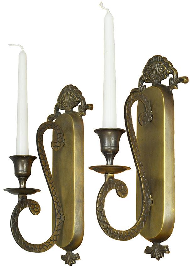 Vintage Hardware & Lighting - Vintage Pair of Wall Candle ...