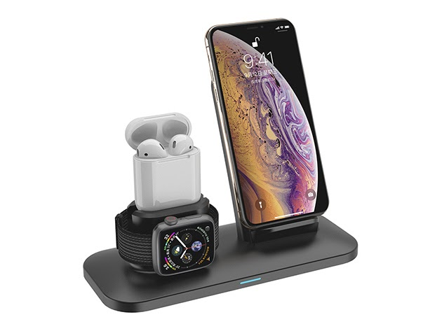 3-in-1 Wireless Fast Charge Station for $42